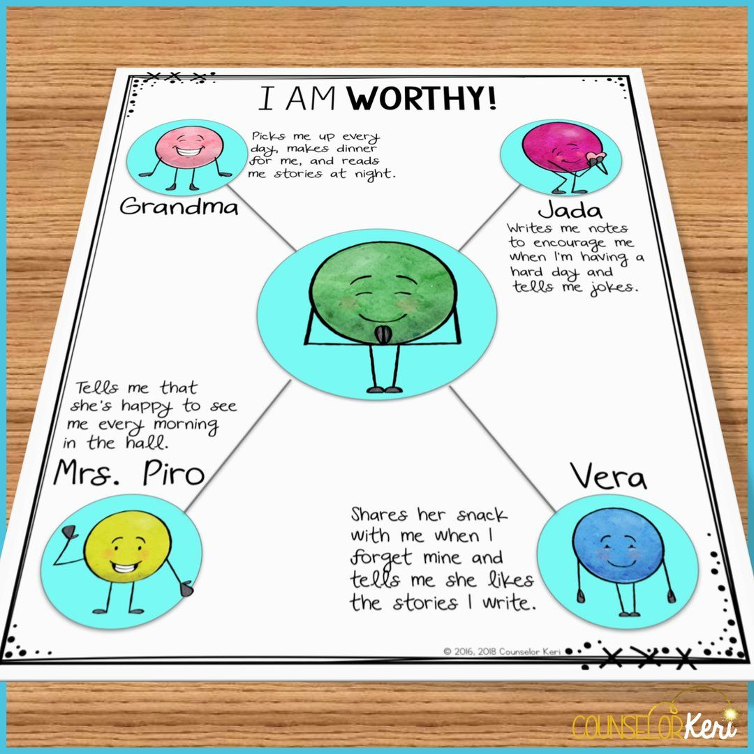 Self Esteem Activities Classroom Guidance Lessons For