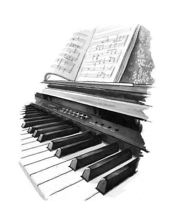 Musica Imagens Musicais Pintura Com Cafe E Desenhos Musica