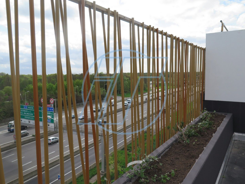 Cerramiento it bambu fr 14 plastificado en dos colores for Vallas de bambu para jardin