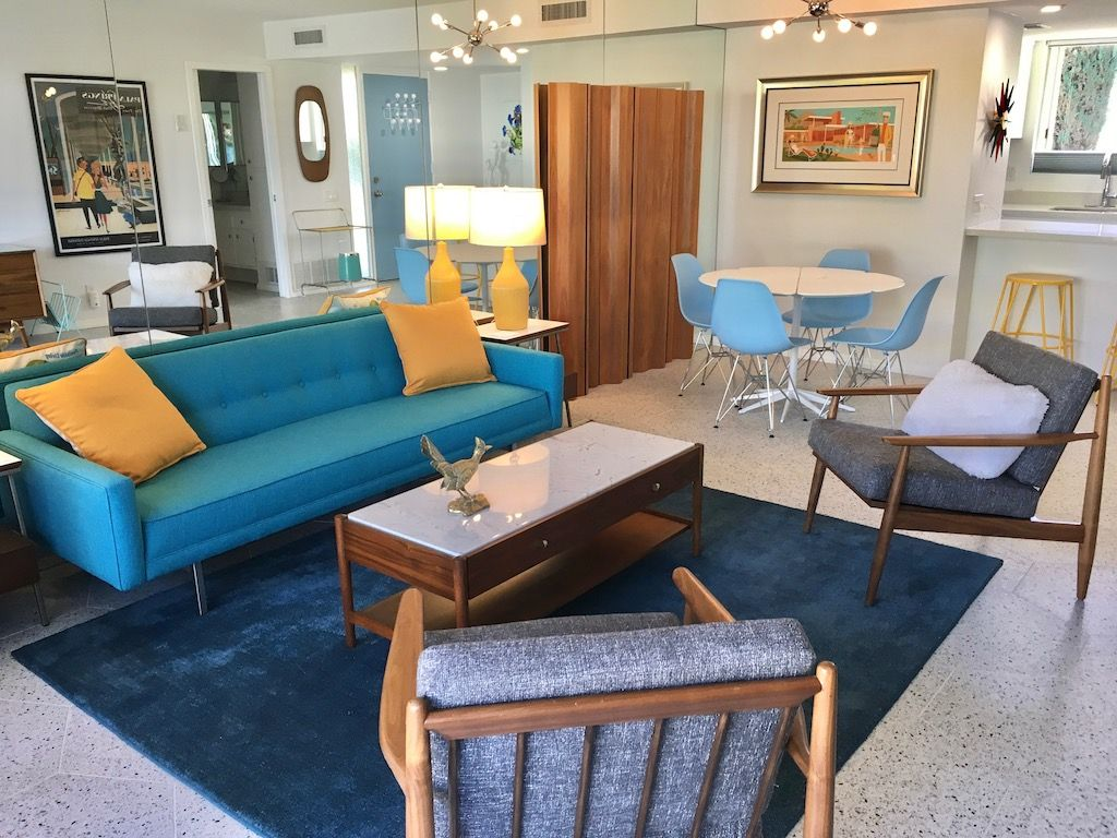"""VACATION RENTAL CONDO AT """"THE COCO CABANA"""" IN SOUTH PALM SPRINGS  Located in coveted South Palm Springs, this quiet one bedroom condo is tucked away in the iconic mid-century... Read more »"""