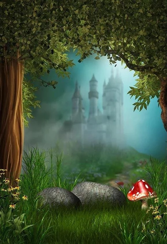 Cartoon Forest Castle Fairytale Photography Backdrops G 567 Castle Backdrop Fairytale Photography Photography Backdrops