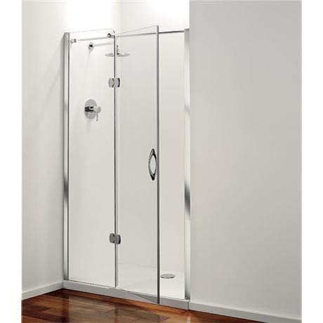 Coram Frameless Premier Hinged Shower Door Left Hand Open 4 Size Options At Victorian Plumbing Uk Shower Doors Wet Room Flooring Small Bathroom