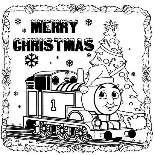 Thomas The Train Saying Merry Christmas To You Coloring Pages Train Coloring Pages Merry Christmas Coloring Pages Christmas Coloring Sheets