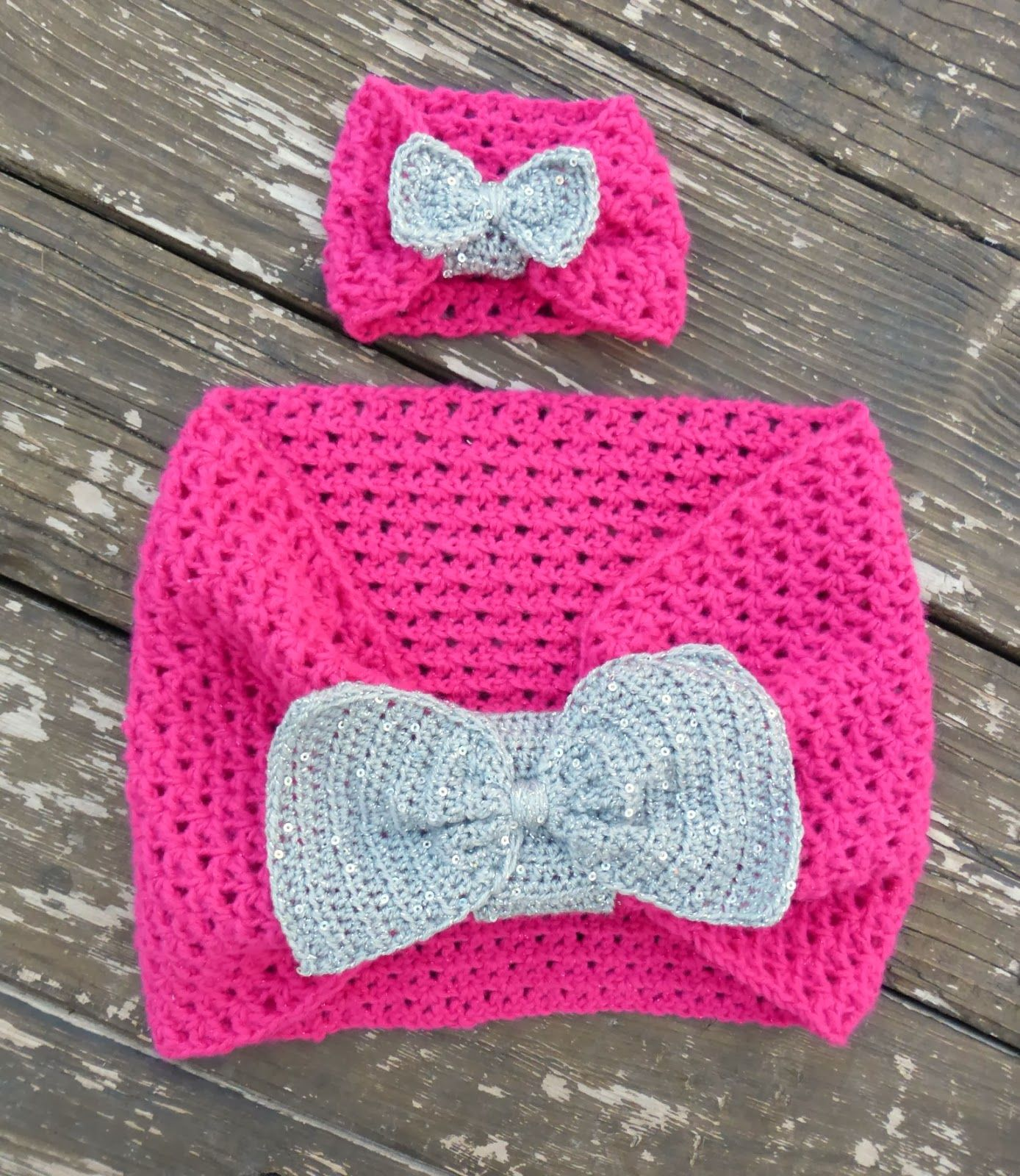 american girl (or 18 inch doll) free crochet bow scarf pattern and ...