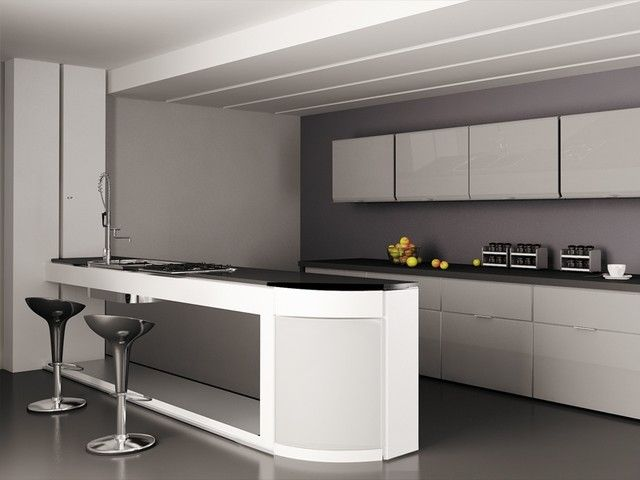 Modern Kitchen Cabinet Doors Background HD Wallpaper With Glass