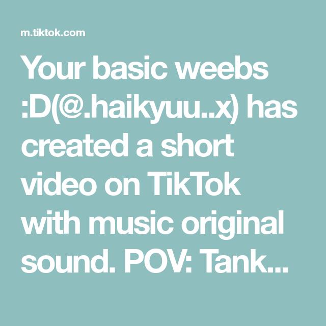 Your Basic Weebs D Haikyuu X Has Created A Short Video On Tiktok With Music Original Sound Pov Tanka Faints And Noya Runs To Haikyuu The Originals Basic