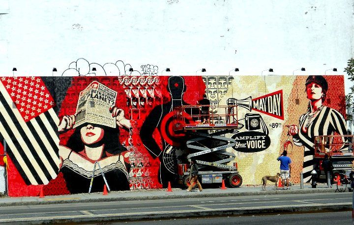 The Wall on Bowery and Houston Street; spring 2010: Shepard Fairey ...