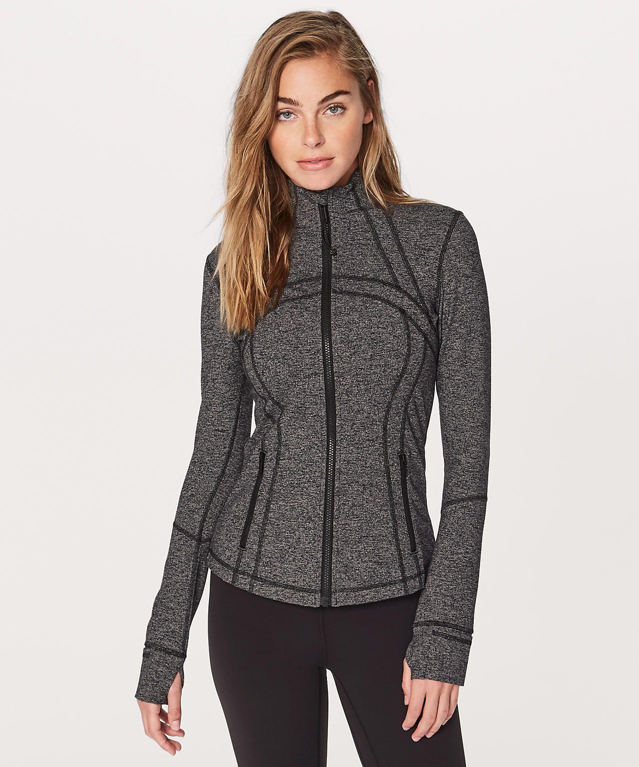 f66e8312646354 Lululemon- Define Jacket in Heathered Black