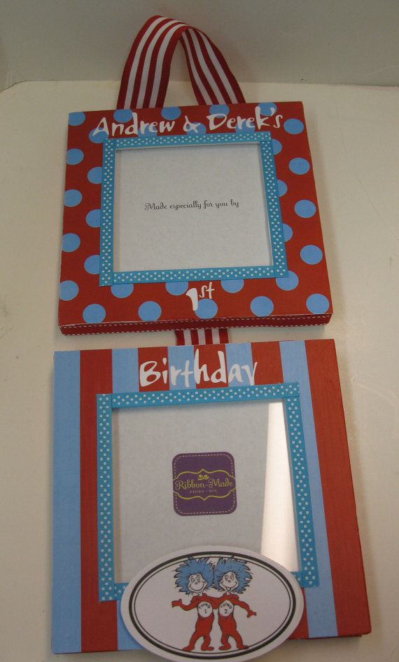 Twins 1st Birthday Hanging Frame - Thing 1 and Thing 2 | Hanging ...
