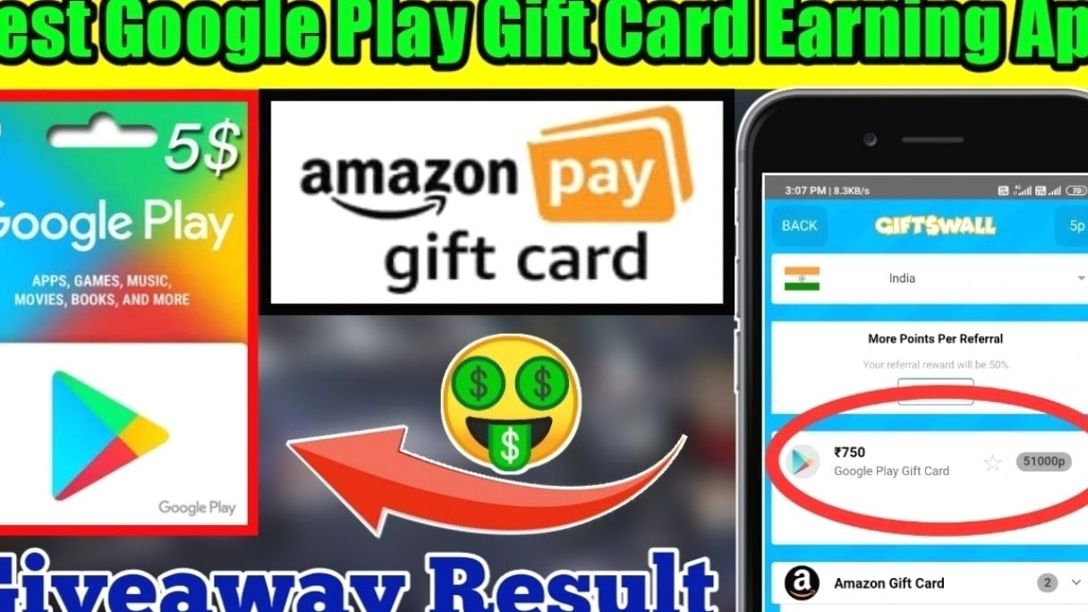 Gifts Walls App Best Google Gift Card Earning App Earn In 2021 Amazon Gift Card Free Amazon Gift Cards Free Amazon Products
