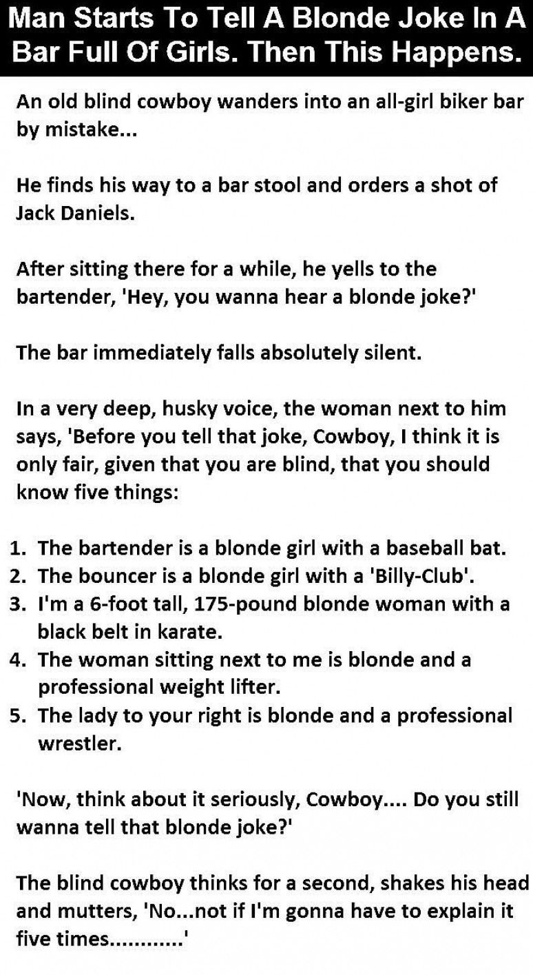 Jokes Only Girls Will Get Blonde Jokes Joke Stories Jokes Quotes