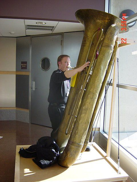Me Playing A Sub Contrabass Tuba Musical Instruments Brass