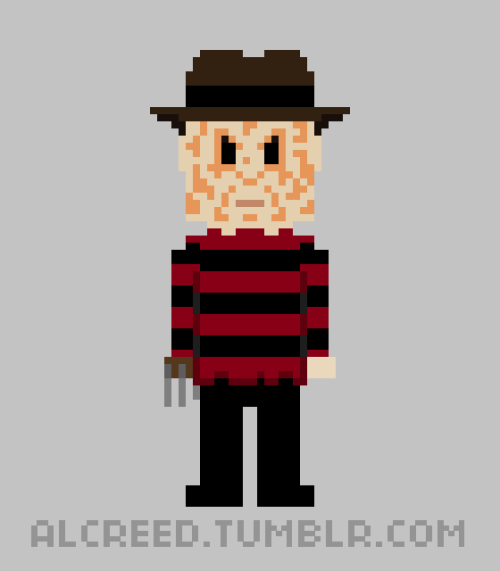 8-Bit Freddy Krueger (a tribute to Wes Craven)!