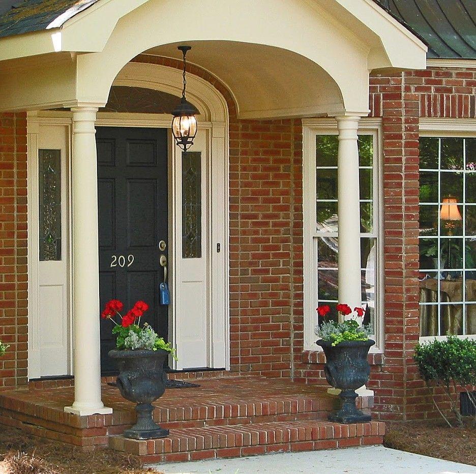 How To Decorate Brick Front Porches