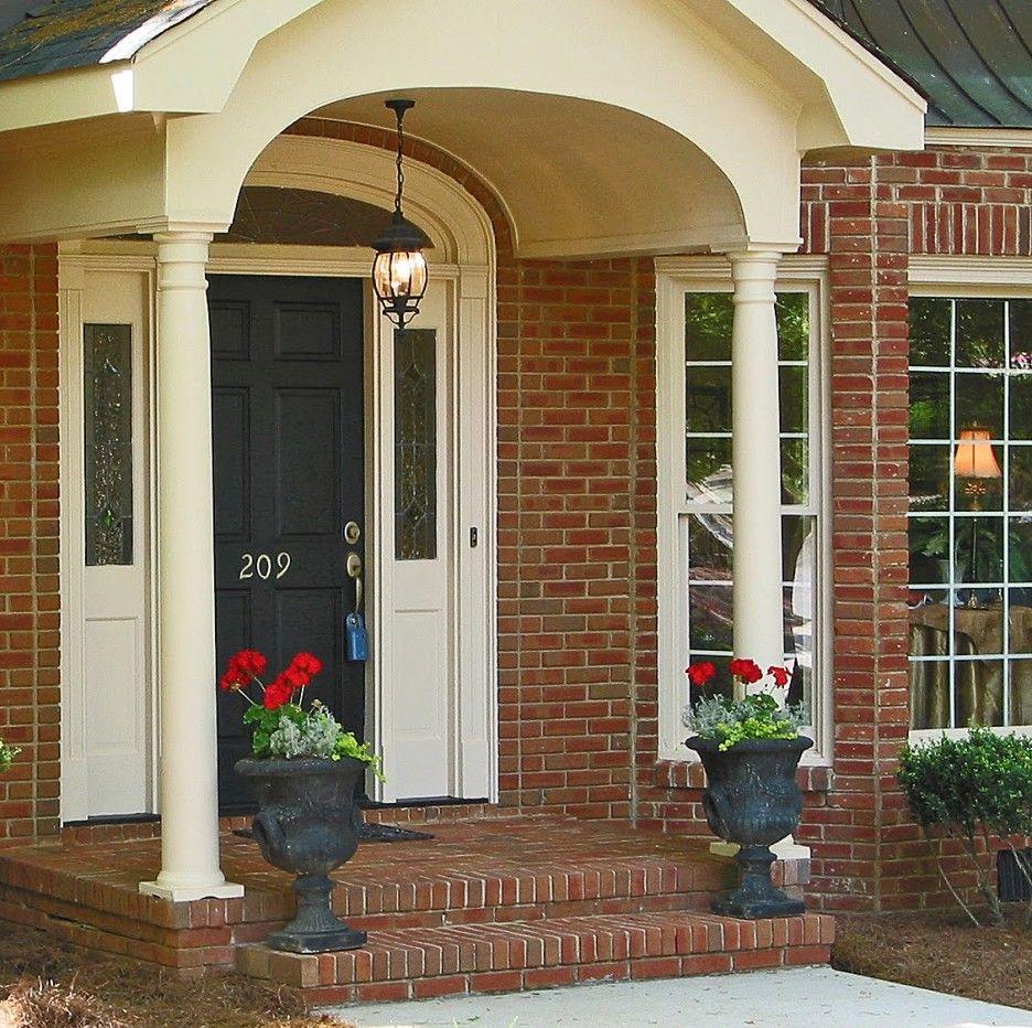 How To Decorate Brick Front Porches Gorgeous Front Porch