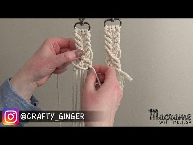 #4 of 4: DIY Macrame Tutorial: Macra-Mini Key Chain for Beginners. ... - Macrame, Jewelry, Crochet, Patterns, Knitting, Clothing, Accessories, Craft Supplies