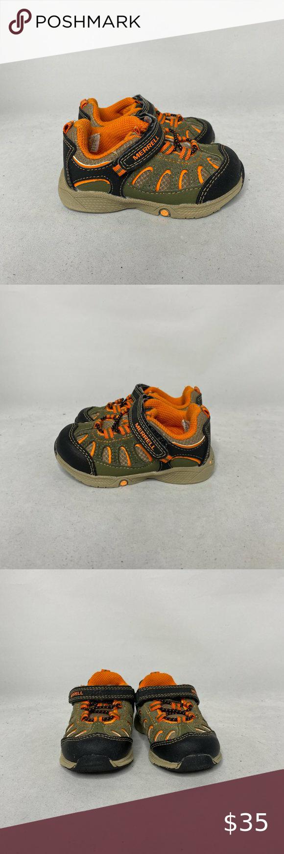 Merrell Boys Chameleon Gray Orange Hiking Shoes