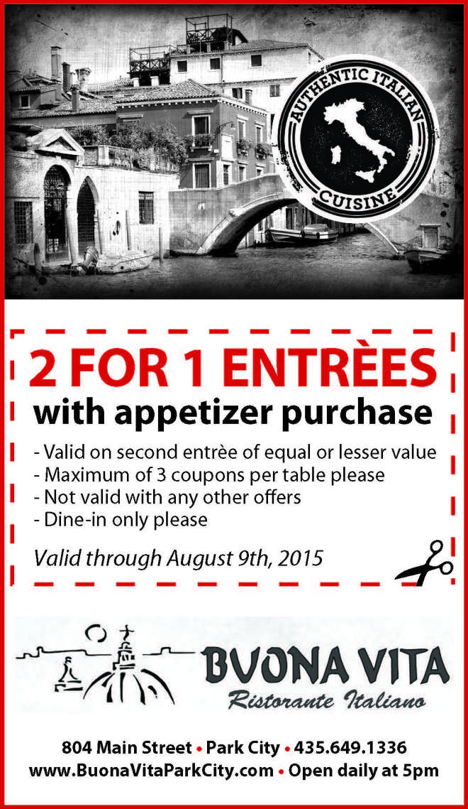 2 For 1 Coupons   Park Record Restaurant Guide - 2 For 1 Coupons Park Record Restaurant Guide Back Yard