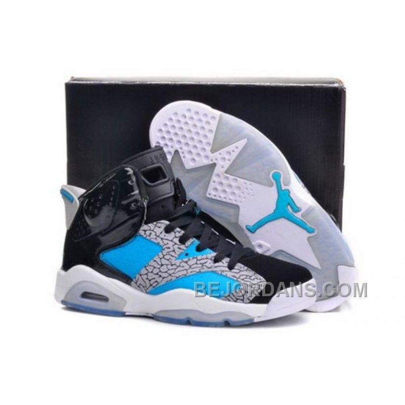 6ada59e5549e7c Norway Nike Air Jordan Vi 6 Retro Mens Shoes New Releases Black Gray Blue  Hot Big