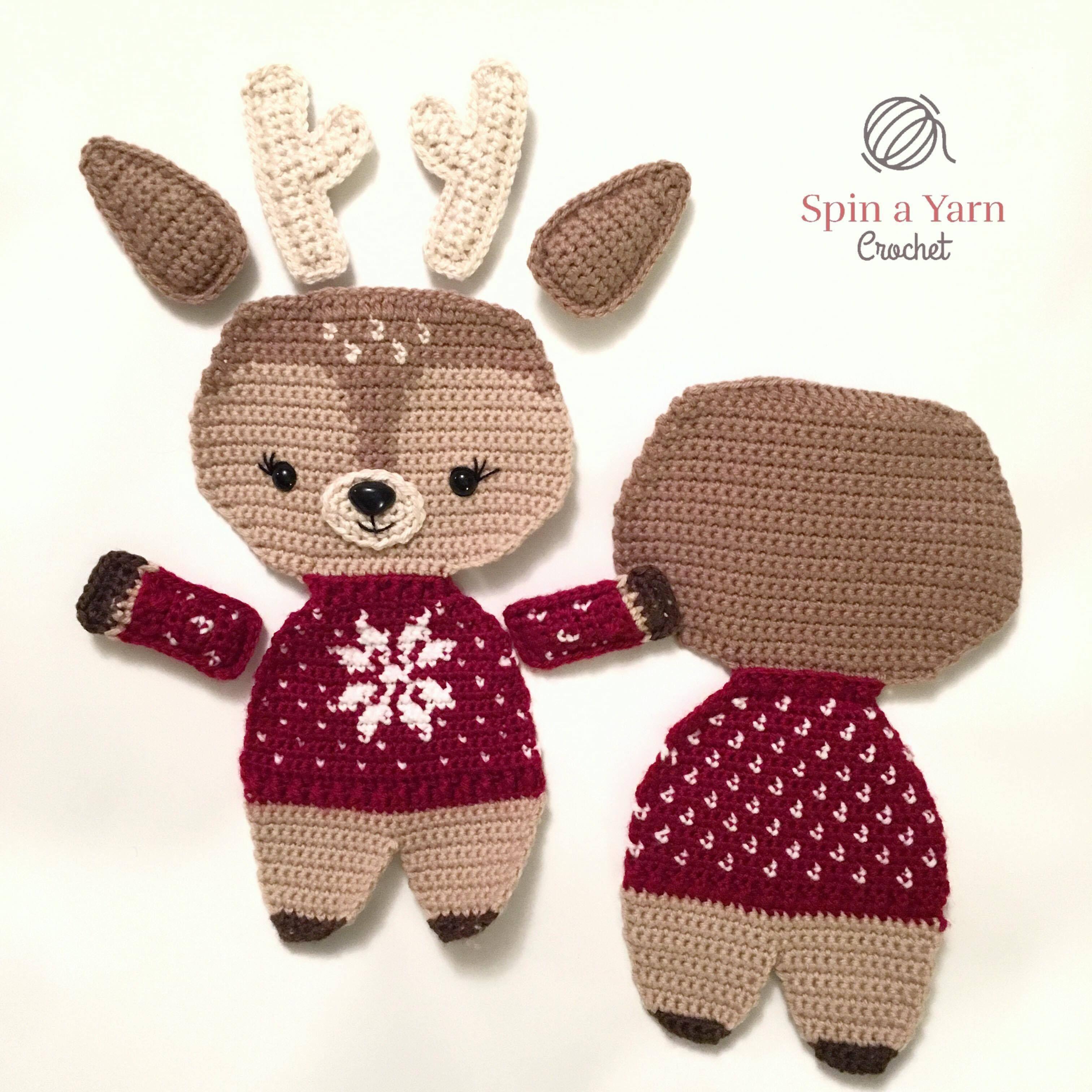 Holiday Deer Free Crochet Pattern (Part 1 | Crochet, Crochet animals ...