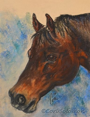 Pony Up: Horse Art By Cori Solomon, painting by artist Art Helping Animals