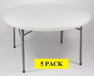 Bt 48r Act 48 5 Pack Folding Round Table With A 4 White Molded Top Round Folding Table Folding Table Lifetime Tables