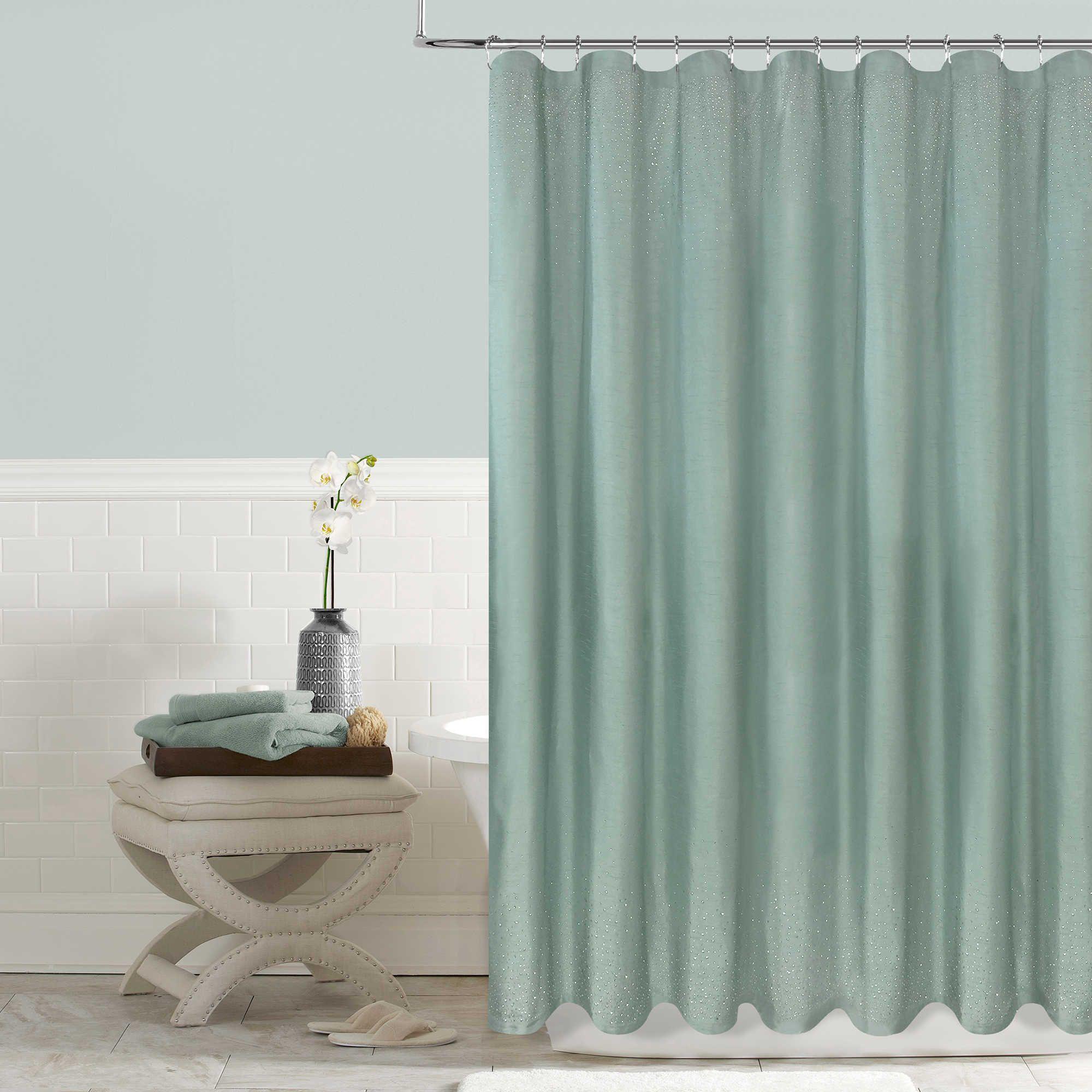Twilight 72 Inch X 96 Shower Curtain In Aqua