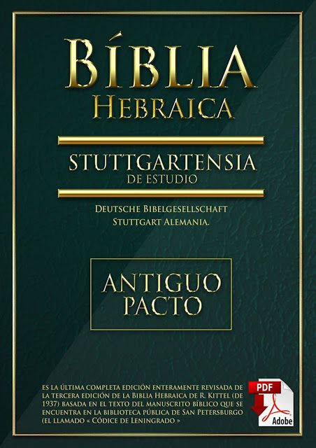 Biblia Hebraica Stuttgartensia En Espanol Antiguo Pacto Con