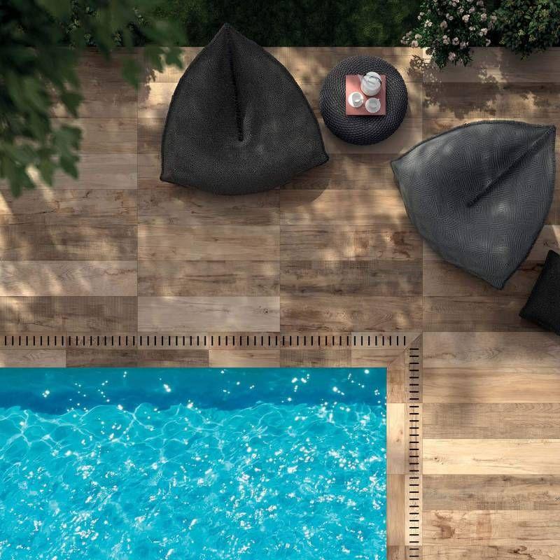Dalle forte épaisseur imitation bois pour terrasse Eguilles - Pose De Carrelage Exterieur Sur Chape Beton