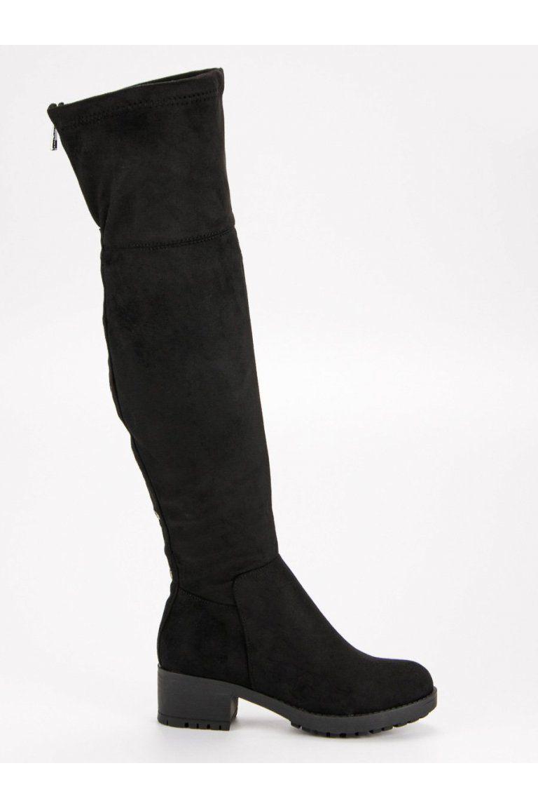 f41020a282560 Čierne čižmy na platforme Super Me | Čižmy nad kolená - NAJ.SK ...
