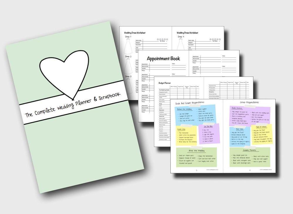 Wedding Planner KIt DIY Print At Home Binder Book Folder CD