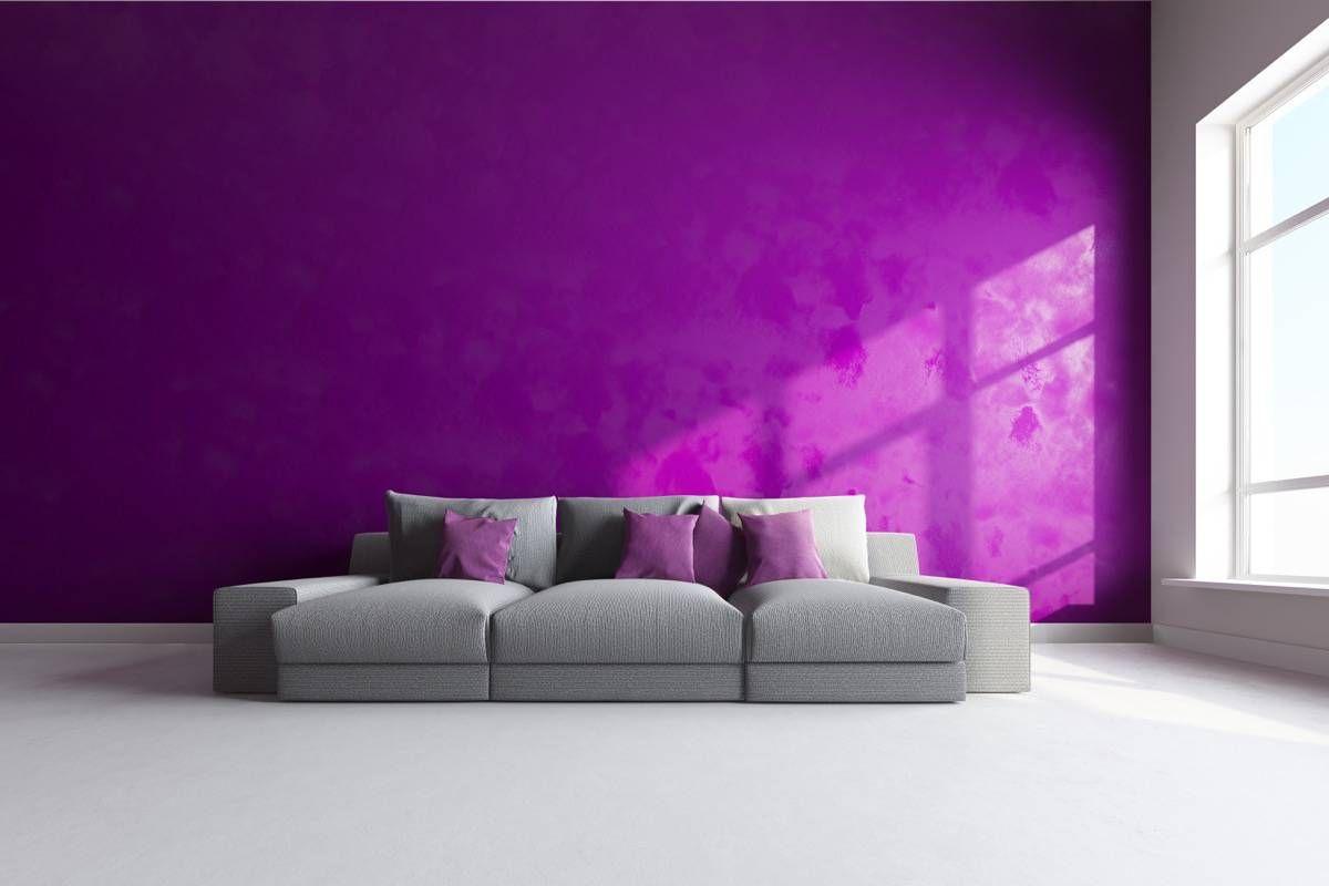 Inspiraci n para decorar un sal n lila y gris spa decorar salon lila y gris - Colores para paredes de salon ...