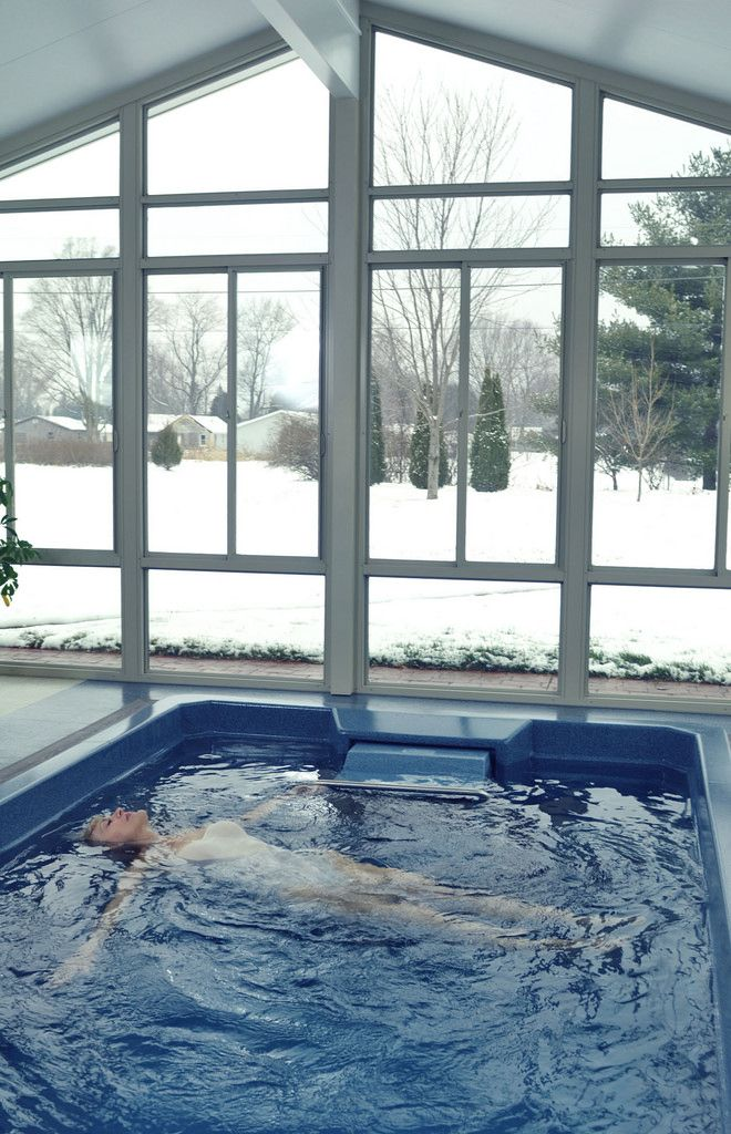 With the Endless Pools 15\' Swim Spa, you get hot tub luxury plus the ...