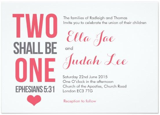 Spiritual Wedding Invitation Wording: 9 Romantic Bible Verse Wedding Invitations That Wow For