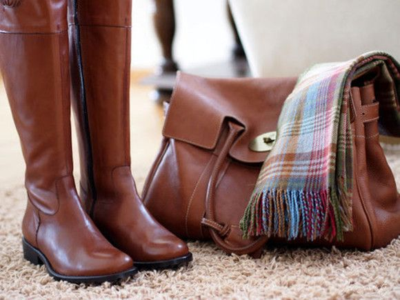 shoes brown leather boots brown leather over the knee boots brown boots bag spring autumn lether bag