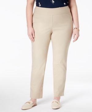 4419708b502cb Charter Club Plus   Petite Plus Size Cambridge Tummy-Control Pull-On Pants