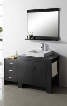 Set Includes Matching Mirror Faucet And Pop Up Drain 54 Inch