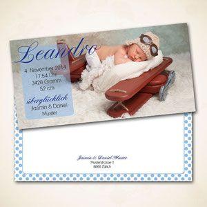 individuell gestaltete Geburtsanzeige