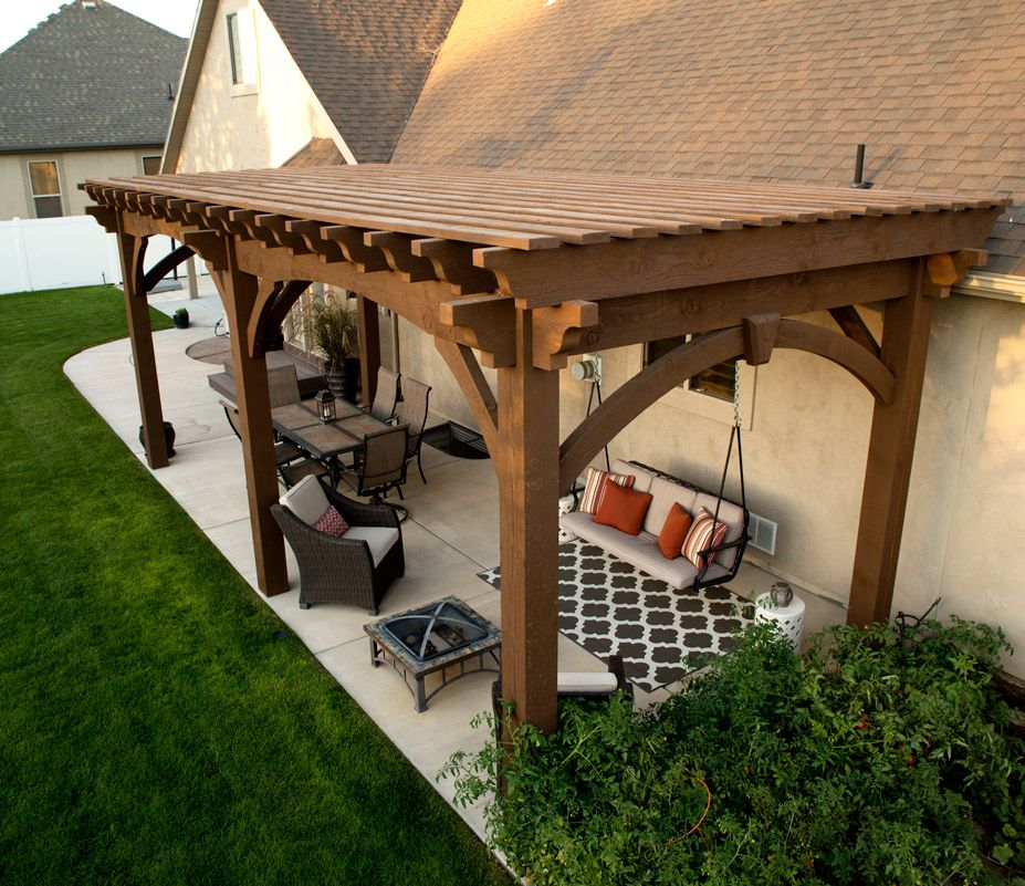 Western Timber Frame DIY ShadeScape™ 8000 Series six post pergola kit  installed in one afternoon for shade over backyard patio. - Pergola Kits (landing Page) DIY Gazebo & Pavillions Pergola