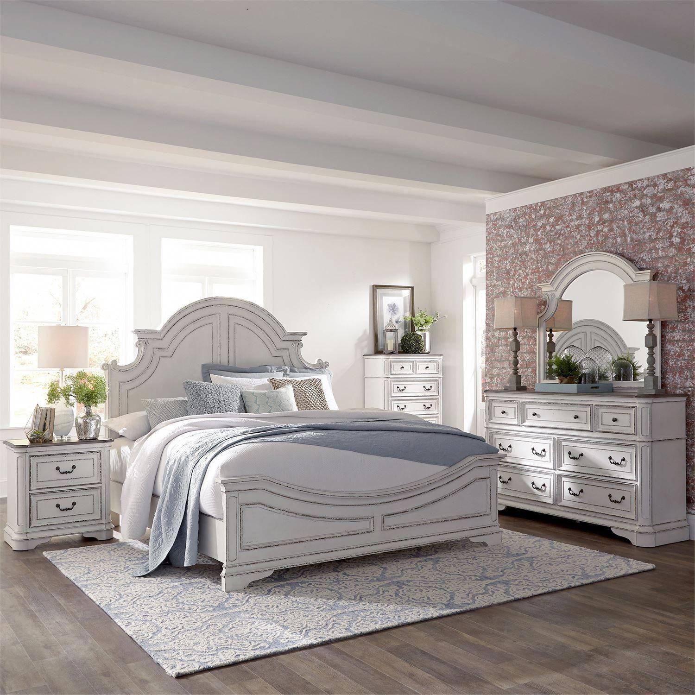 Magnolia Manor Antique White Panel Bedroom Set