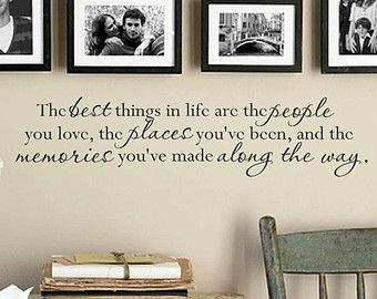 The best things in life wall decal - wall vinyls decals art - wall decor - vinyl wall art
