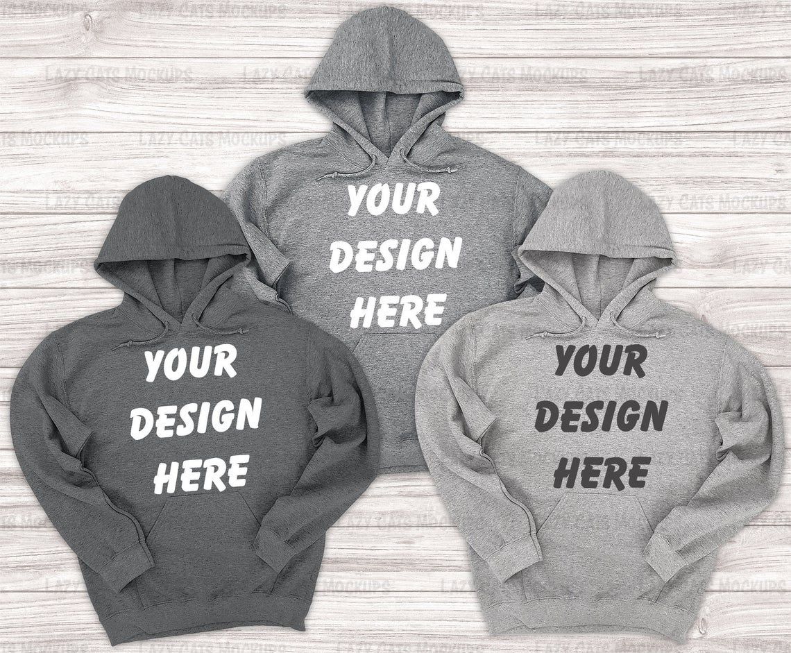 Download 3 Heather Grey Gildan 18500 Mock Up Hoodie Sweatshirt Gildan Etsy Sweatshirts Hoodies Sweatshirts Online