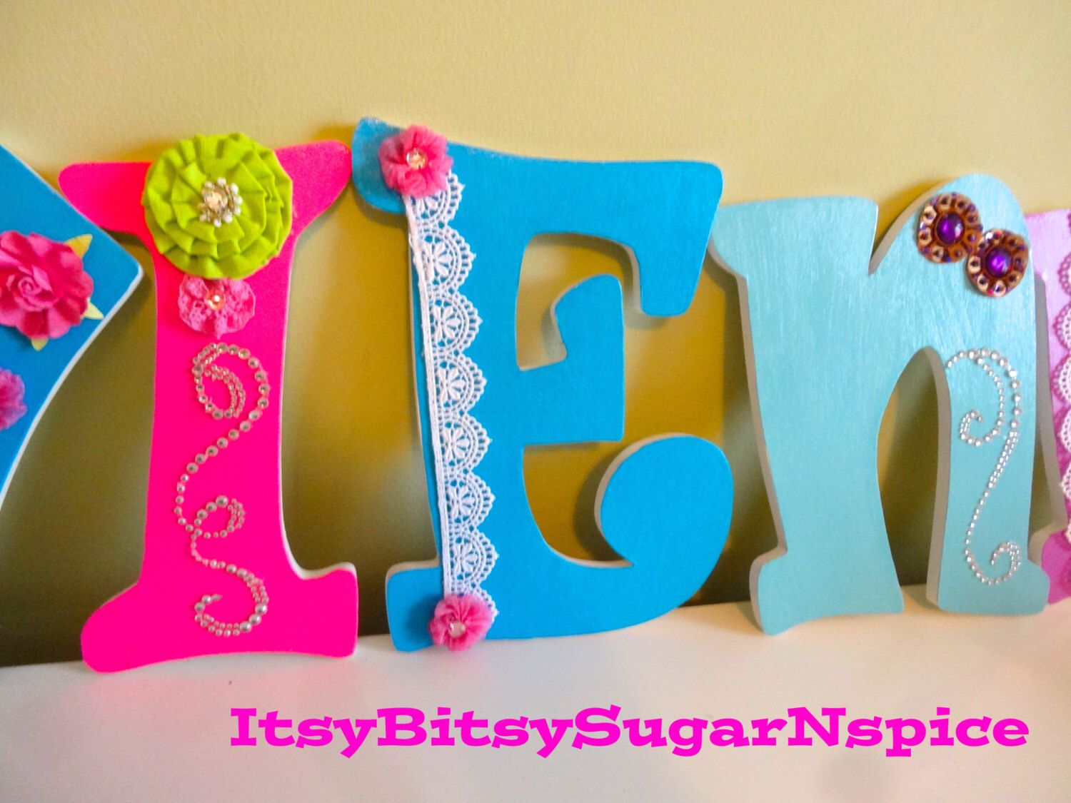 Personalized Wall Letters For Nursery