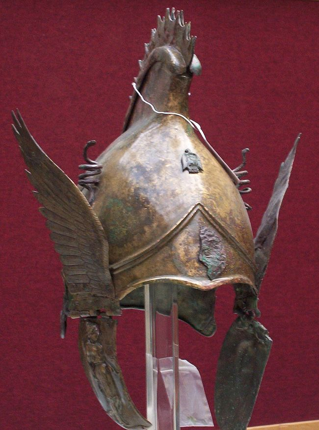Greek Bronze Winged Helmet Of Phrygo Attic Type 4th Cent