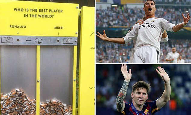 Ronaldo & Messi are the butt of new scheme to reduce cigarette litter