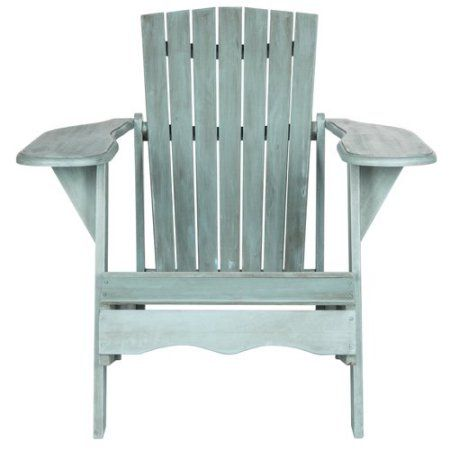 Astounding Safavieh Mopani Outdoor Contemporary Adirondack Chair Gmtry Best Dining Table And Chair Ideas Images Gmtryco