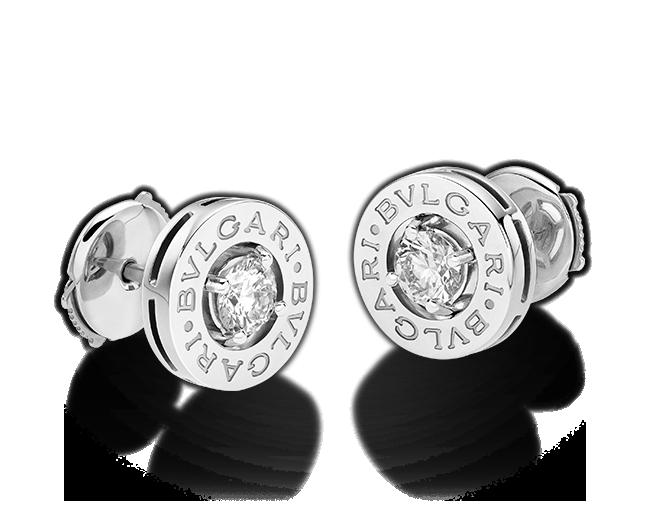 aad3c976c376 Pendientes BVLGARI BVLGARI en oro blanco de 18 qt con diamante ...