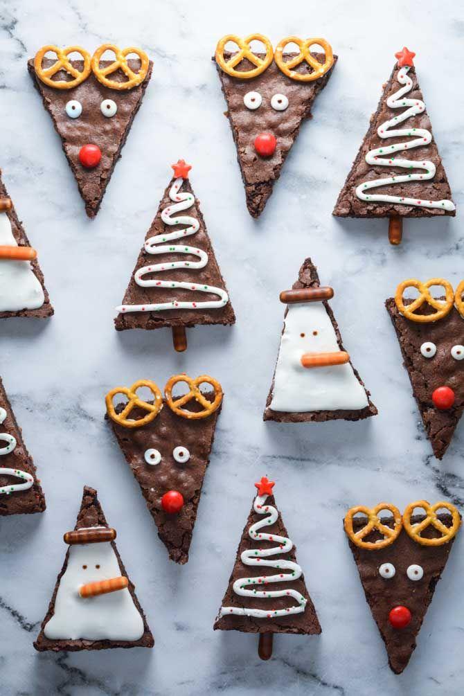 Julebrownies opskrift fra Bageglad.dk #konfektjul