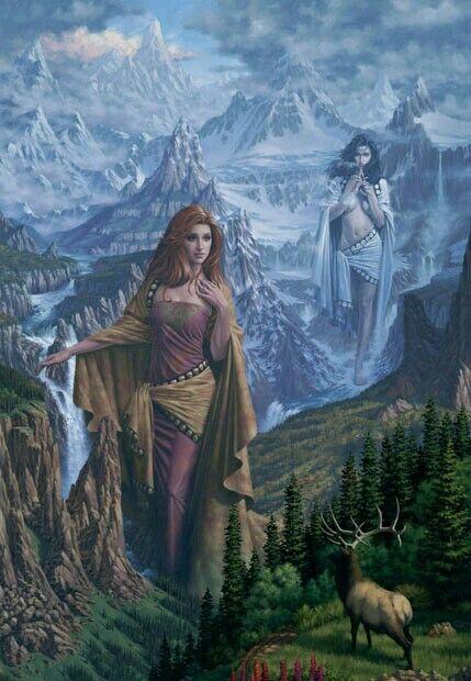 Fjörgyn, Jord moder jord Tors moder  Mother Earth, Thoru0027s mother - moder