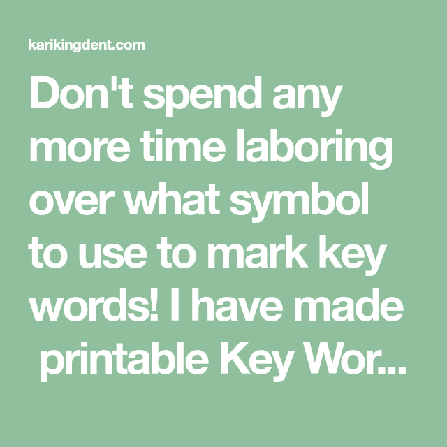Dont Spend Any More Time Laboring Over What Symbol To Use To Mark